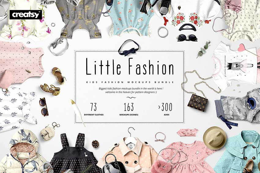 Little Fashion Apparel Mockup Bundle
