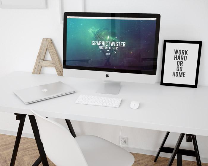 PSD Workspace Mockup