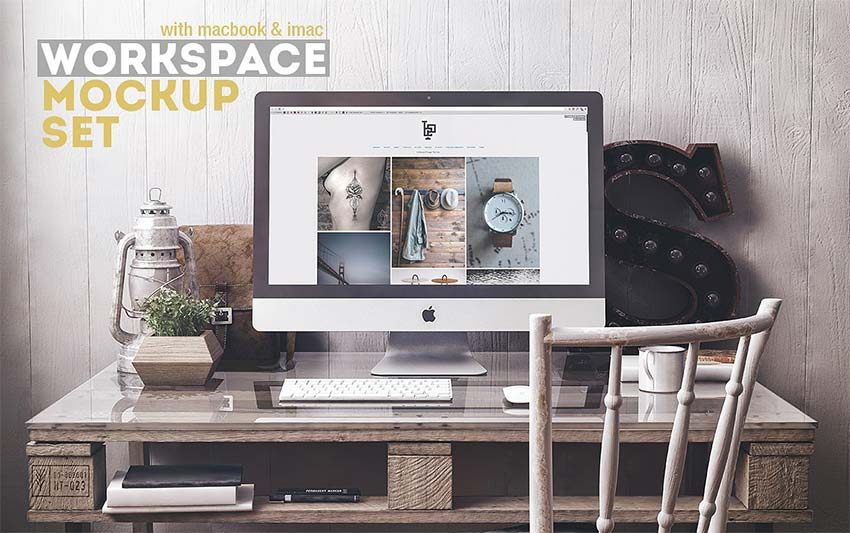Best Free Workspace Mockup PSD Templates