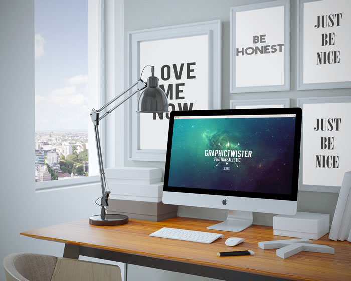 Home Workspace Mockup
