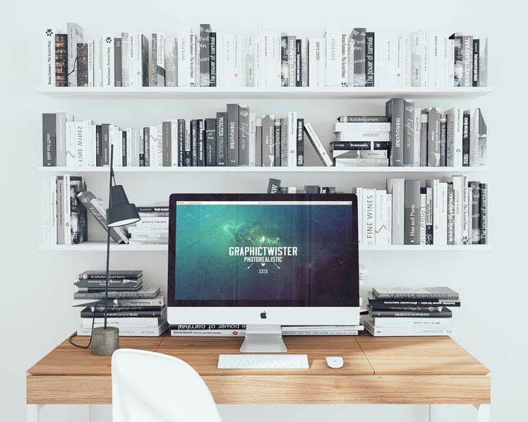 Office Workspace Mockup PSD
