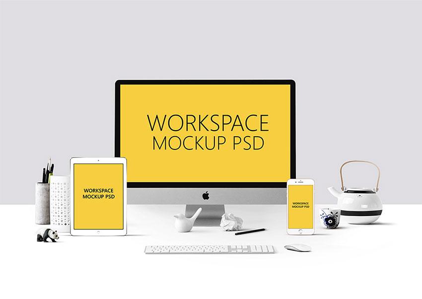 Elegant Workspace Mockup