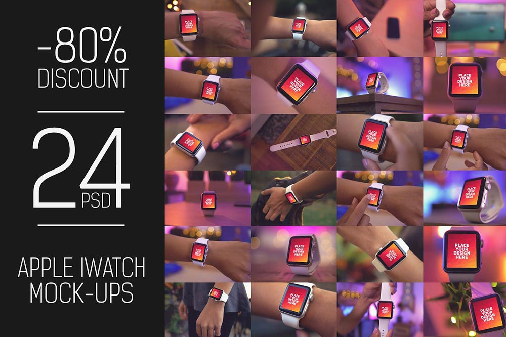 24 PSD iWatch Display Mock-up