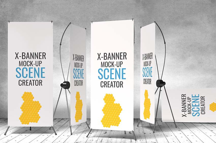 X Banner Mockup PSD Templates