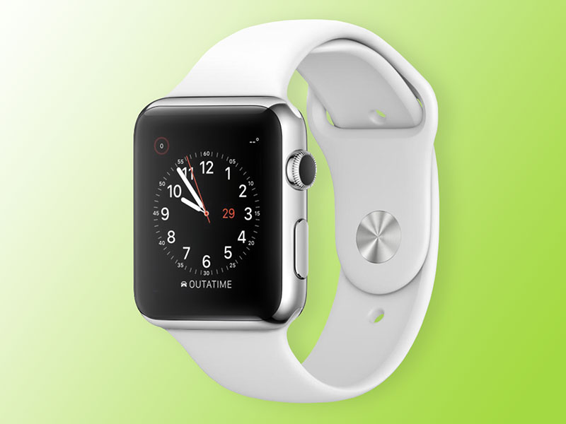 White Apple Watch Mockup