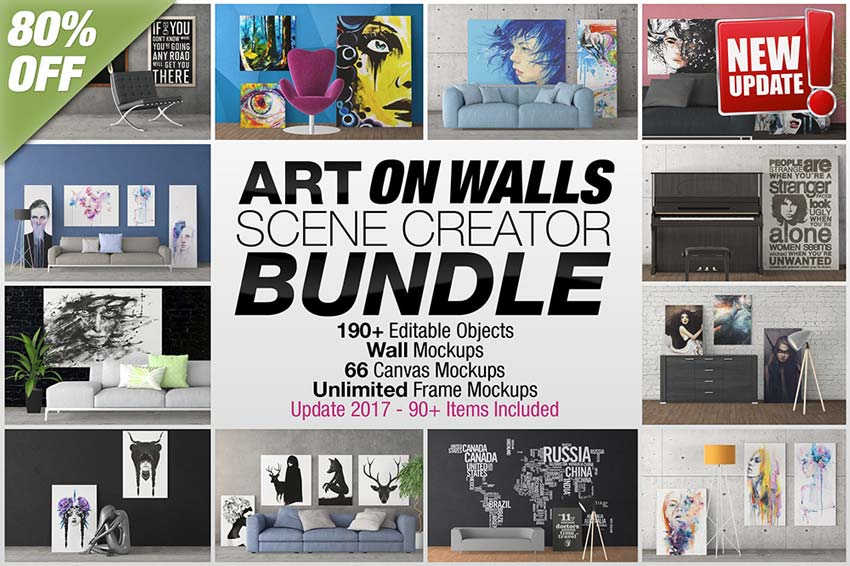 Art On Walls Scene Creator Bundle