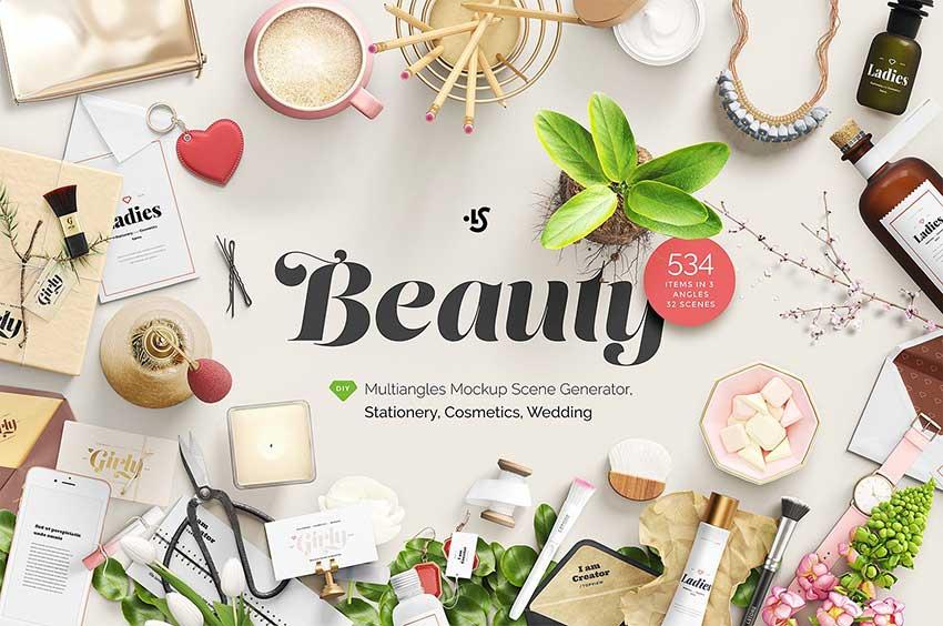 Beauty Mockup Scene Creator