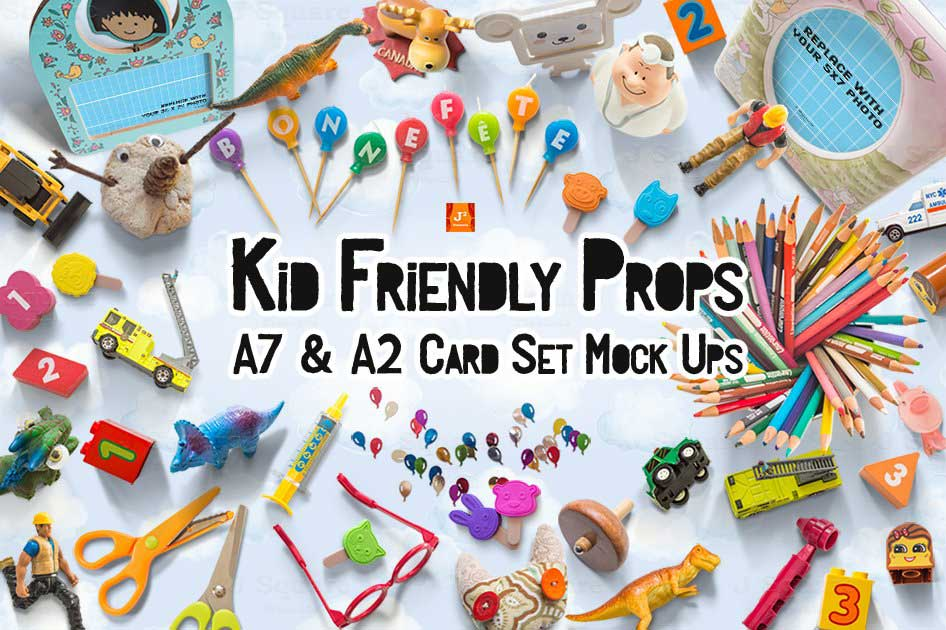 Kid Friendly Props & Card Mockups