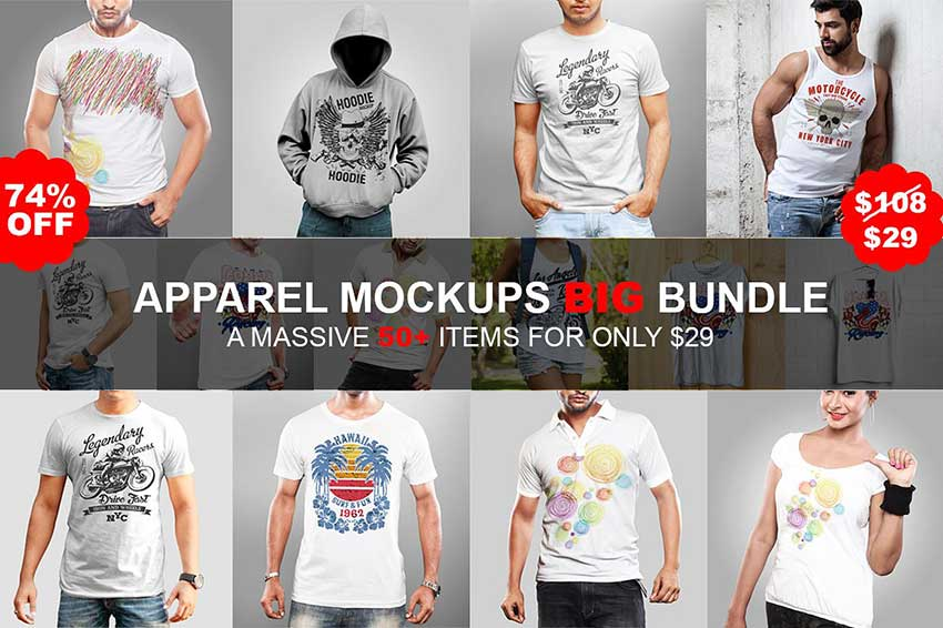 Apparel Mockups Big Bundle