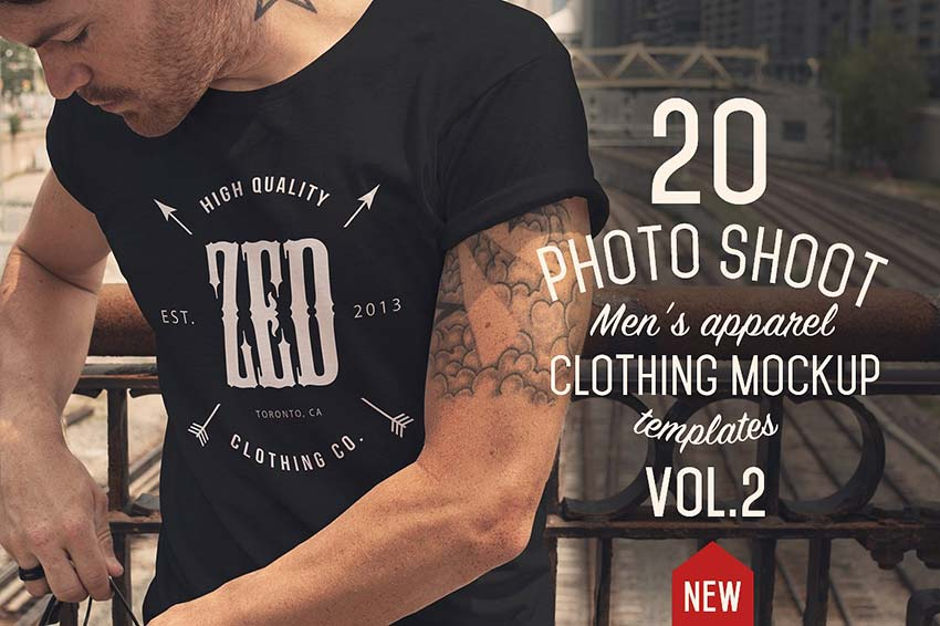 20 Mens apparel Mockups