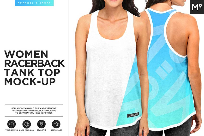 Women Racerback Tank Mock-up
