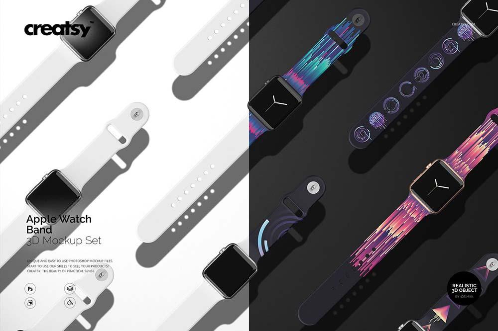 Apple Watch Band Mockup Set