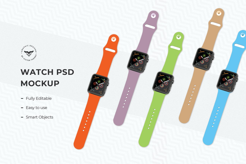 Multi Color Smart Watch Mockups