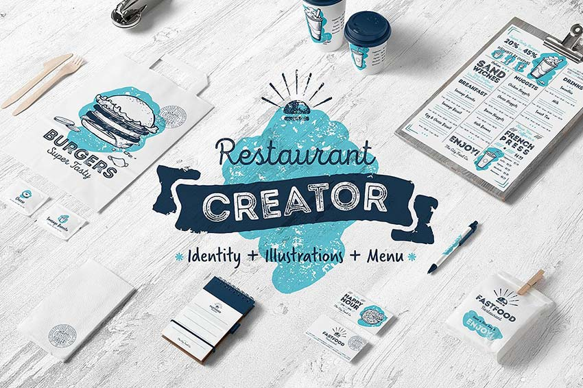 Café and restaurant identity creator