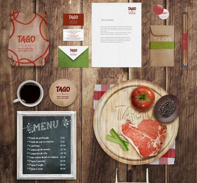 Restaurant / Food Identity Mock-up