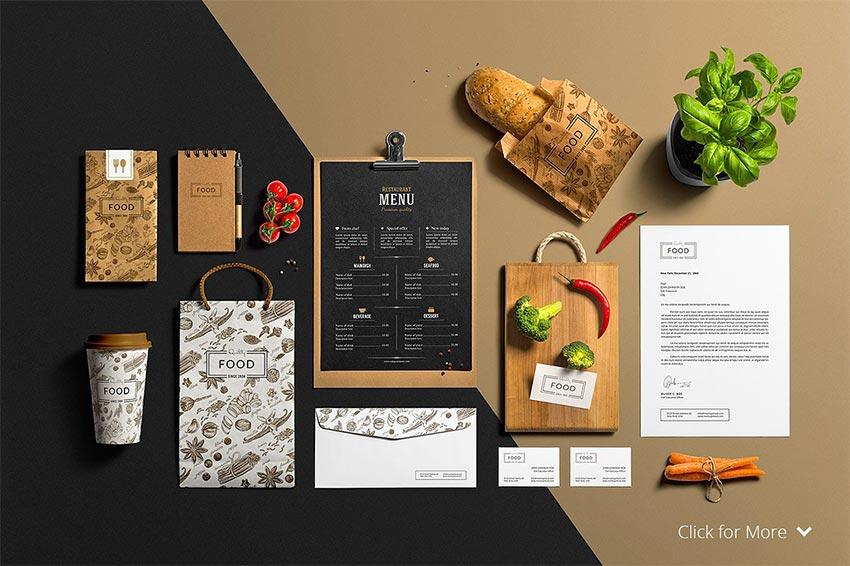Restaurant & Bar /Stationery Mock-Up
