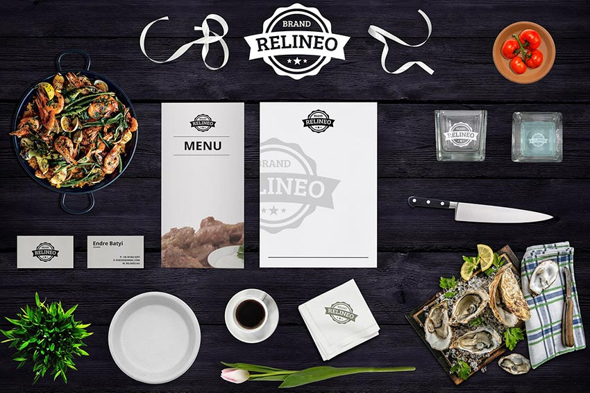 Restaurant Branding Mock-up