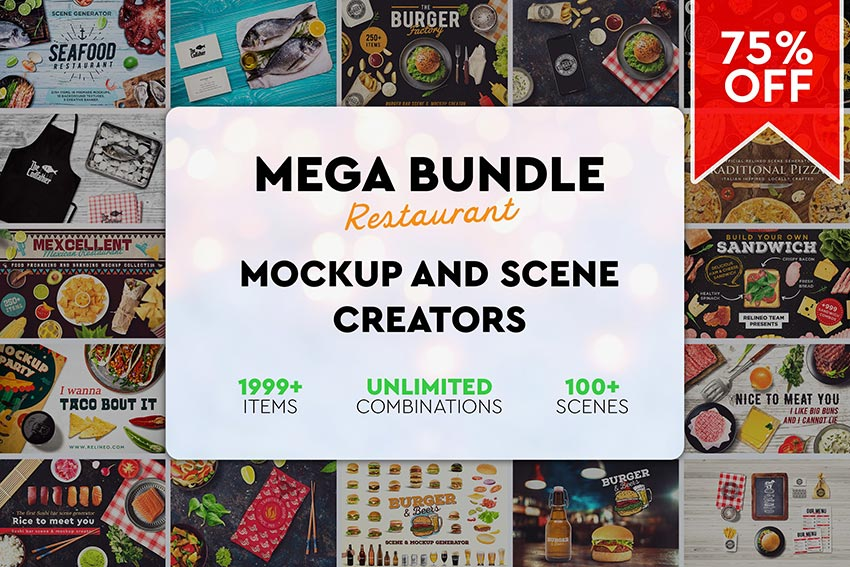 Mega Bundle Restaurant Scene Creator