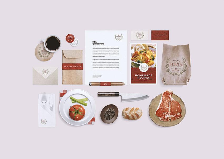Restaurant/Food Identity Mockup