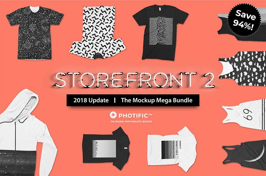Storefront 2 Apparel Mockup Bundle