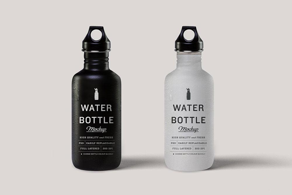 Matte Water Bottle Mock Up