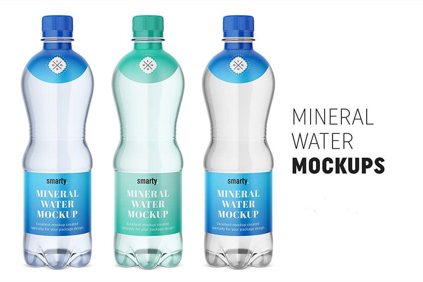 Mineral water bottle mockups