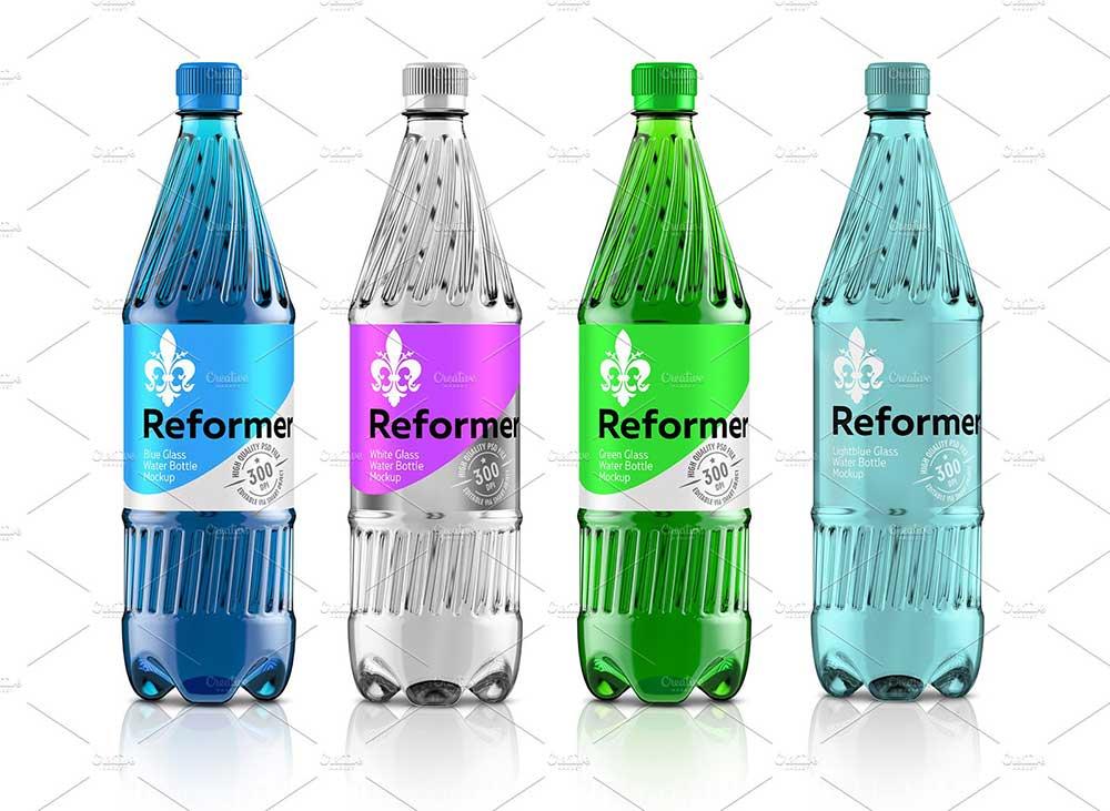 Water Bottle Mockup + Poster