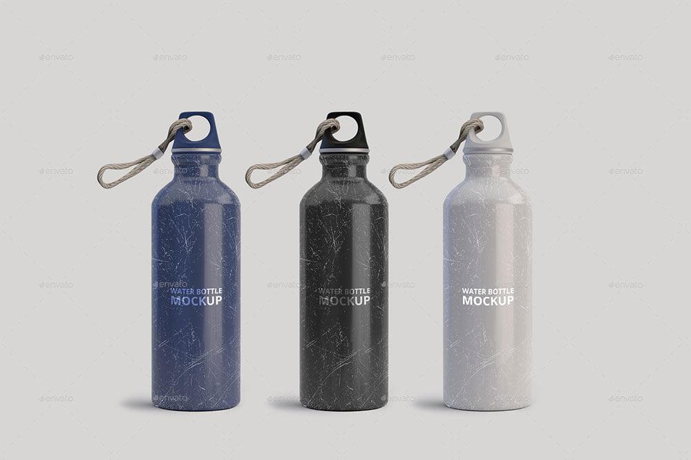 Aluminum Water Bottle Mockup