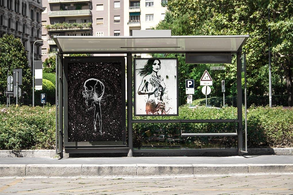 Bus Stop Flyer Mock-up