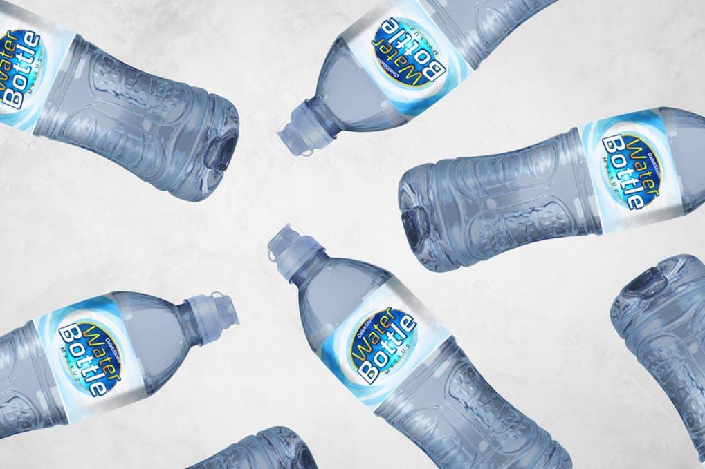 Water Bottle Mockup