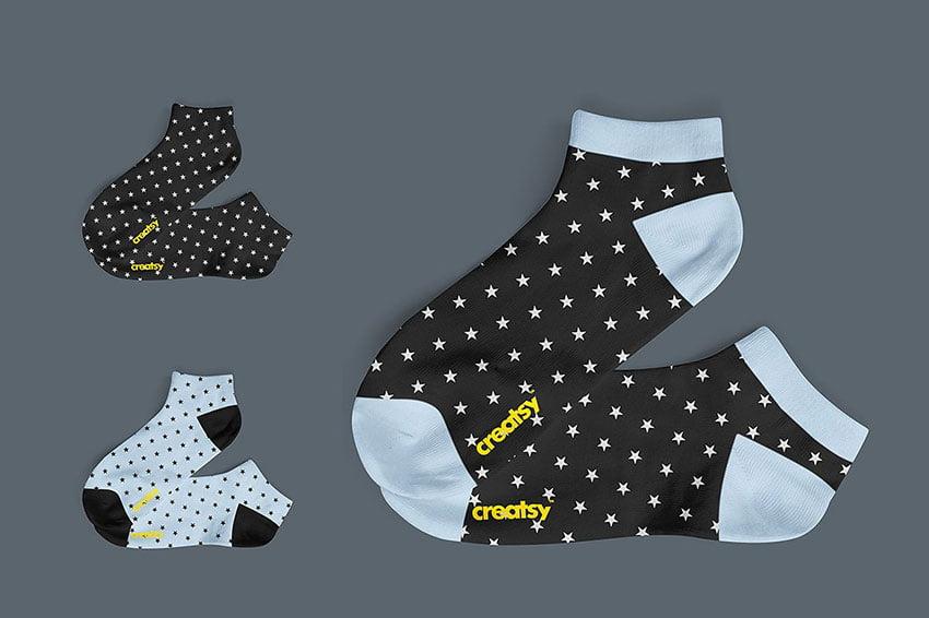 Low Cut Socks 2 Mockup Set