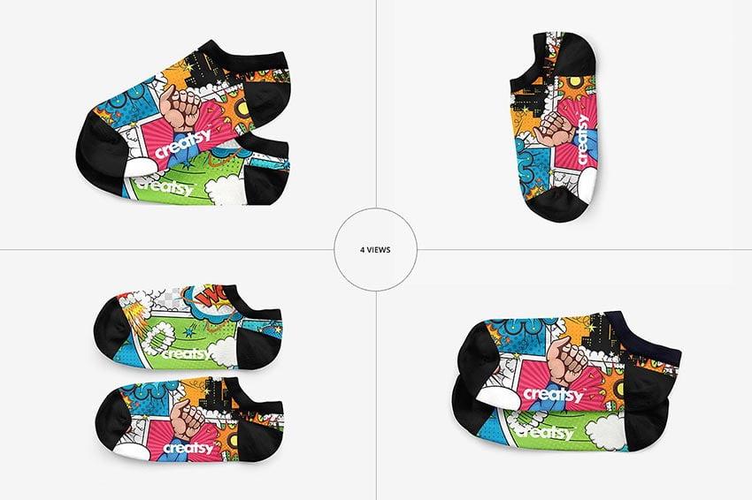 Low Cut Socks 3 Mockup Set