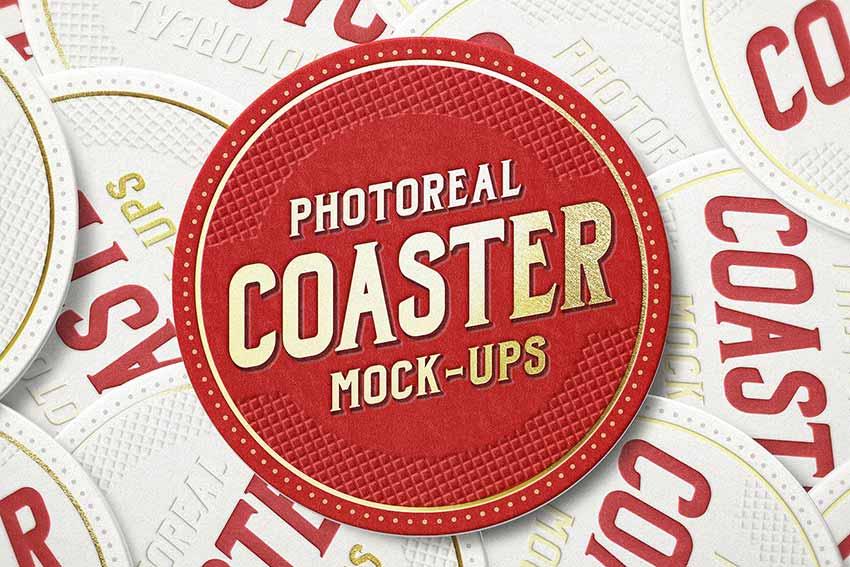 Photoreal Coaster Mock-ups