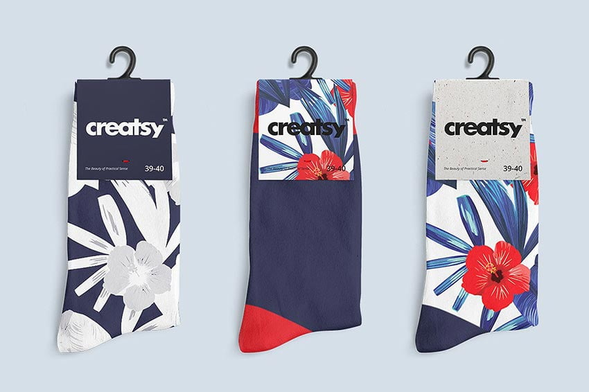 Socks 2 Mockup Set