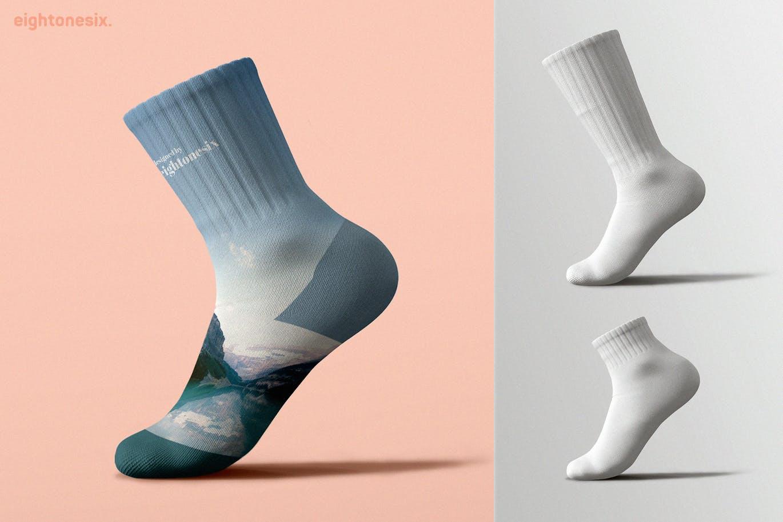 Socks Mock-Up Template