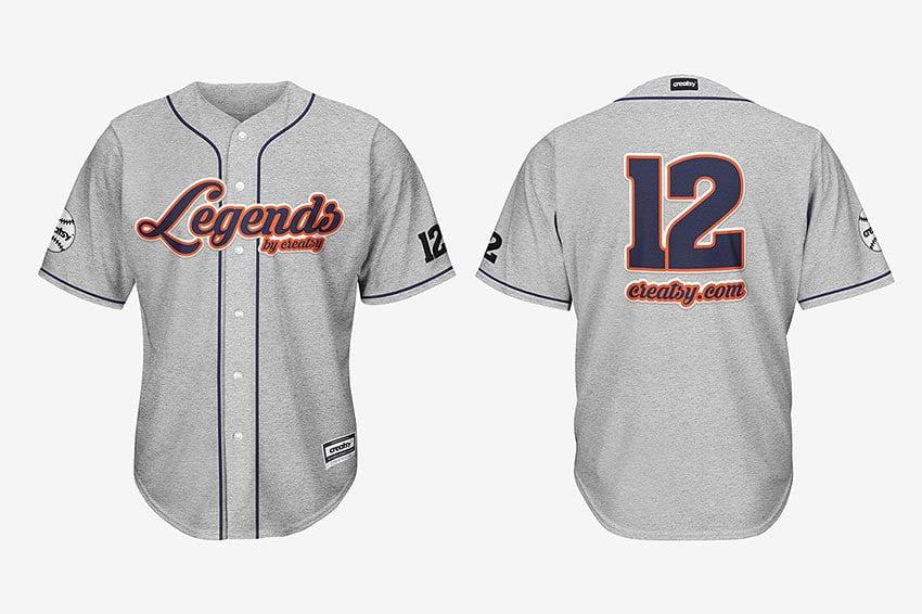 Baseball Jersey Mockup Set
