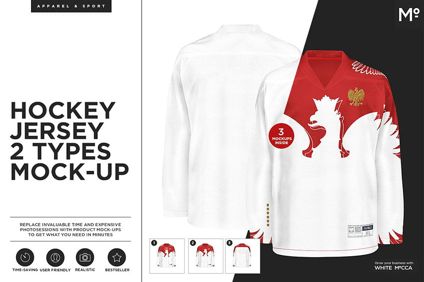 Hockey Jersey 2 Types Mock-up