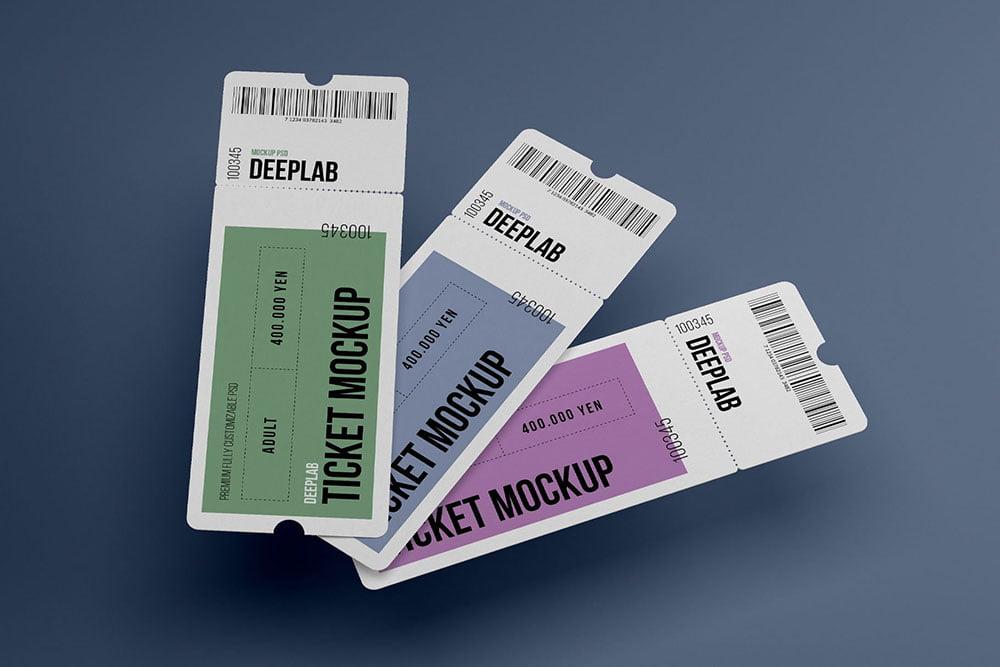 Tickets Mockup Set - 17 styles