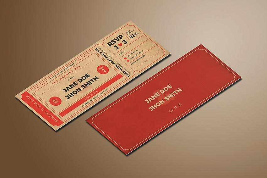 Best Ticket Mockup PSD Templates