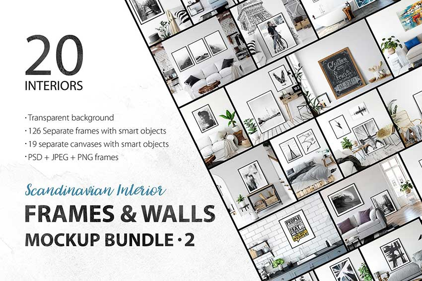 20+ Attractive Interior Mockup PSD Templates | Mockuptree