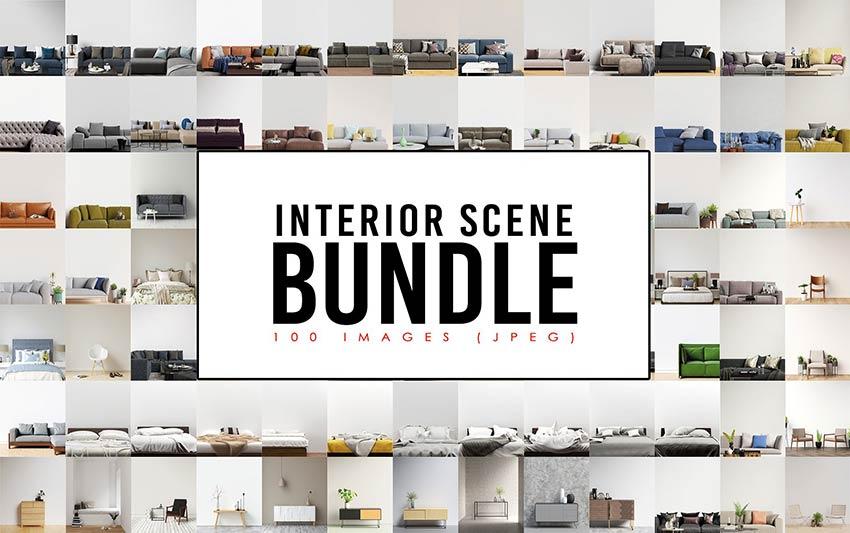 100 Interior Scene Bundle