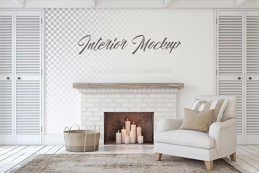 Best Interior Mockup PSD Templates