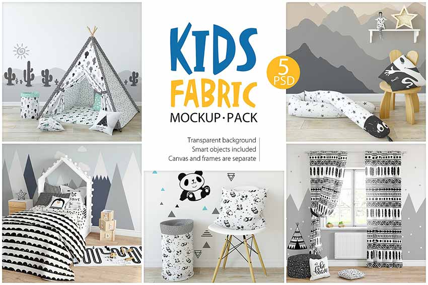 KIDS Fabric Mockup Pack