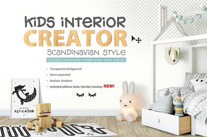 KIDS Interior Mockup Creator