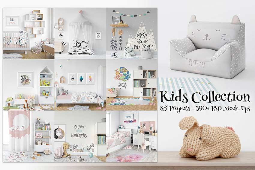 85 Kids Collection Mockup Bundle