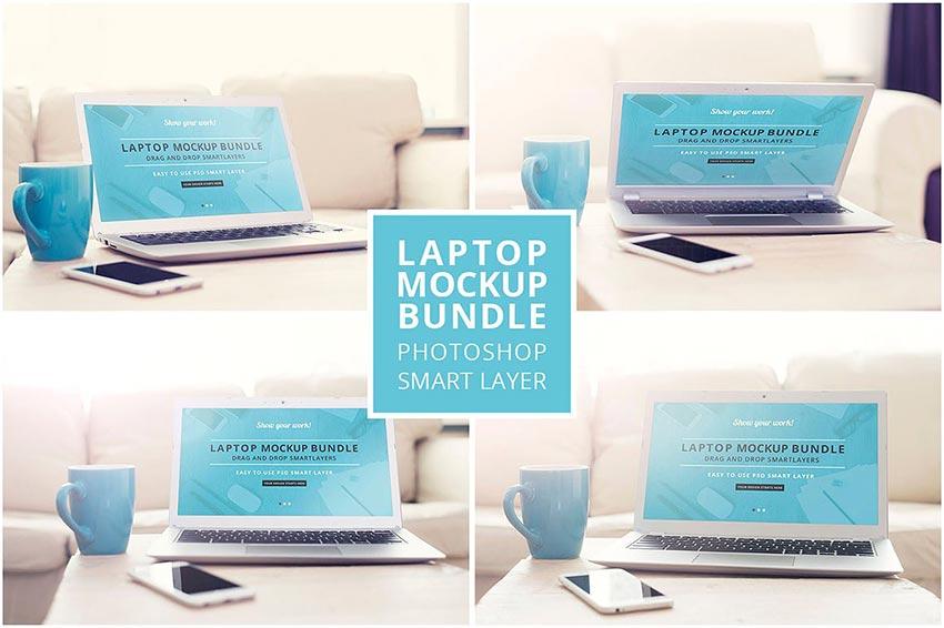 Laptop mockup bundle