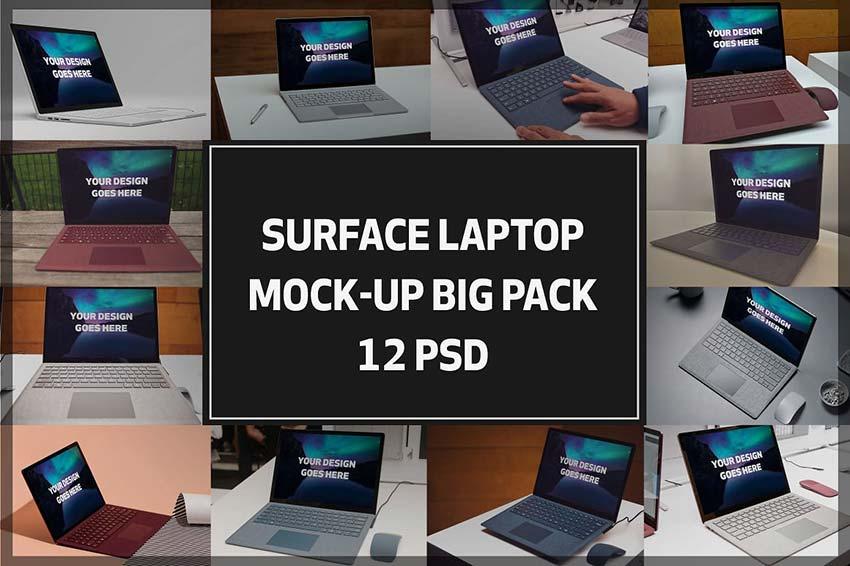 Microsoft Surface Laptop Mock-ups