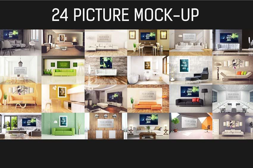 24 Picture Mock-up Bundle