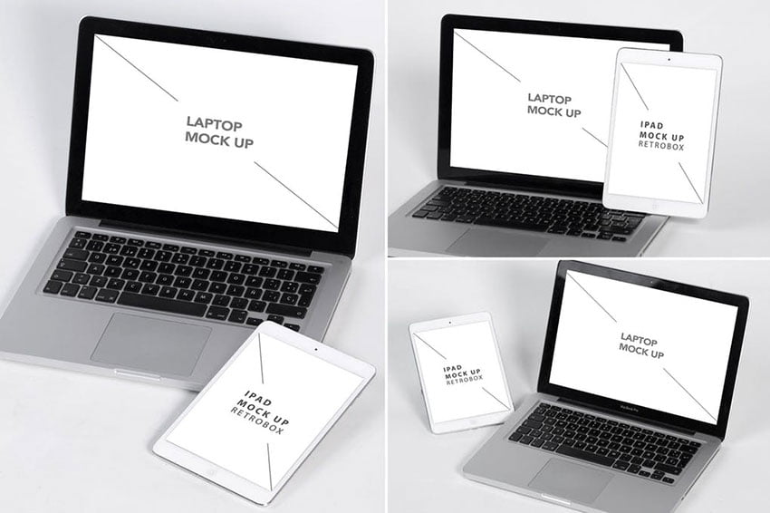 Laptop and Tablet Mock Up