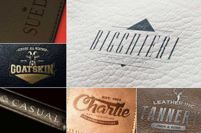 Leather Branding Logo Mockups